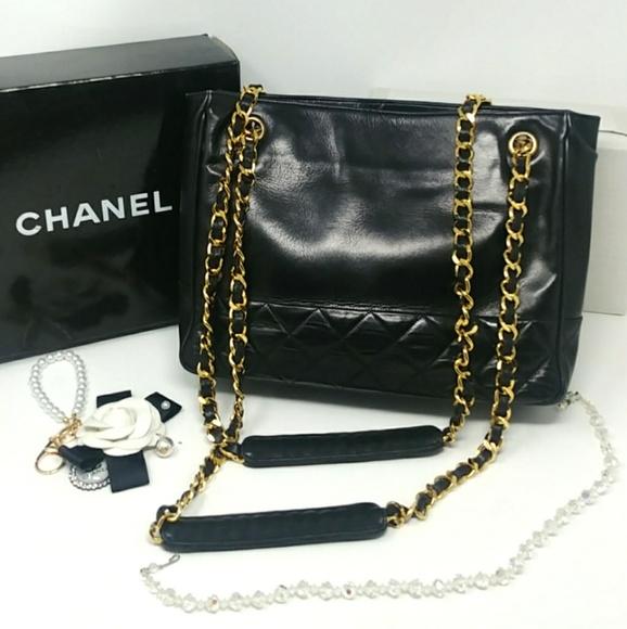 a366f93551 CHANEL Bags | Vintage Black Chain Shopper Shoulderbag | Poshmark